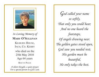 Memoriam Cards